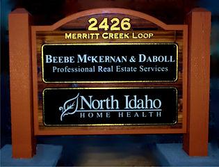 Cedar Sandblasted Sign