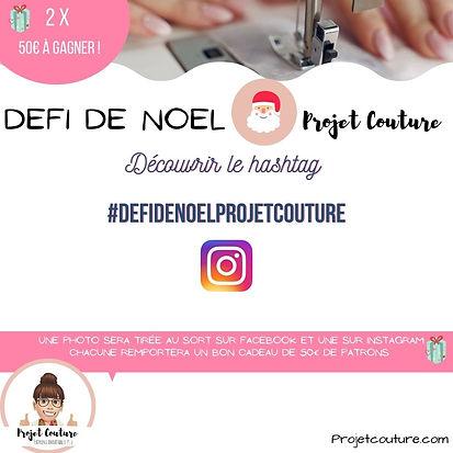 Défi de Noel - patron projet Couture