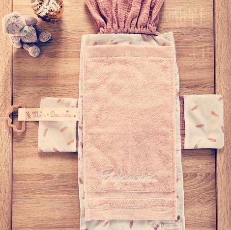 Pochette tapis à langer bébé - patron et
