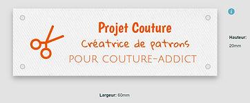 Créer des etiquettes textile pour créatr