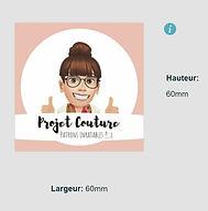 projet couture étiquette personnalisable