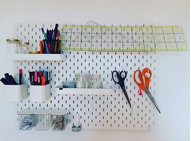 Organiser un coin couture - tuto projet