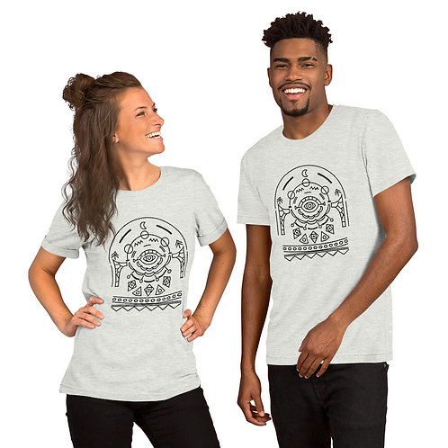 Short-Sleeve Unisex T-Shirt Ornament Design with multi color options.