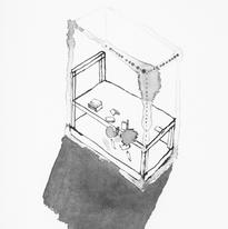 Skin and Ghosts monoprint series IX, 2006