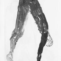 Skin and Ghosts monoprint series XIX, 2006