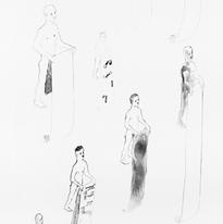 Skin and Ghosts monoprint series XVII, 2006