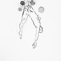 Skin and Ghosts monoprint series XI, 2006