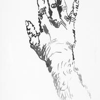 Skin and Ghosts monoprint series VIII, 2006