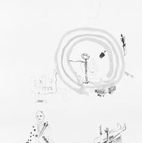 Skin and Ghosts monoprint series XV, 2006