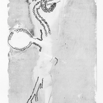 Skin and Ghosts monoprint series XVI, 2006