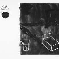 Skin and Ghosts monoprint series II, 2006