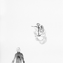 Skin and Ghosts monoprint series I, 2006