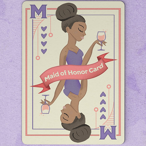 Maid of Honor Card - African American