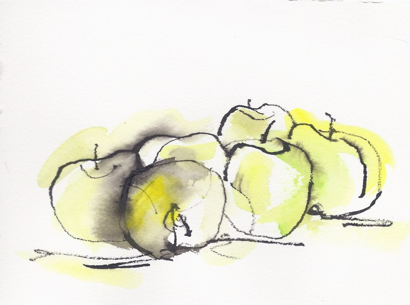 "Green Apples  (5 1/2""x7 1/2"")"