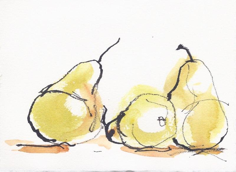 """Pears II  (5 1/2""""x7 1/2"""")"""