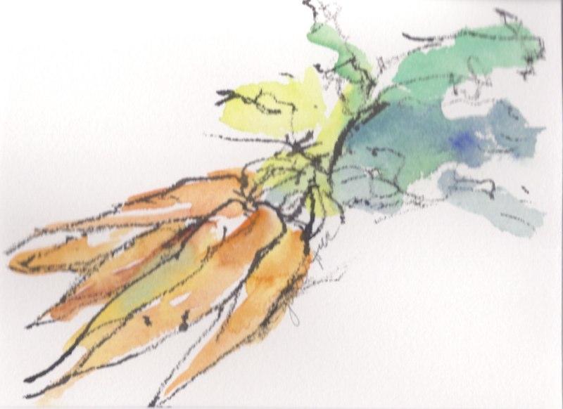 """Carrots  (5 1/2""""x7 1/2"""")"""