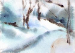 "Snow Path  (5 1/2""x7 1/2"")"