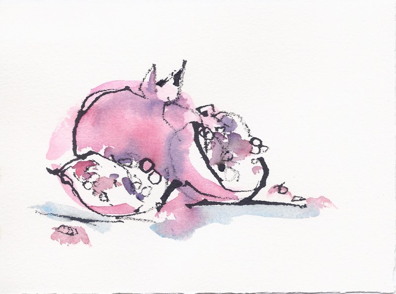 "Pomegranate  (5 1/2""x7 1/2"")"
