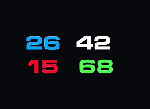 Official Club Member Number Stickers (Pair)