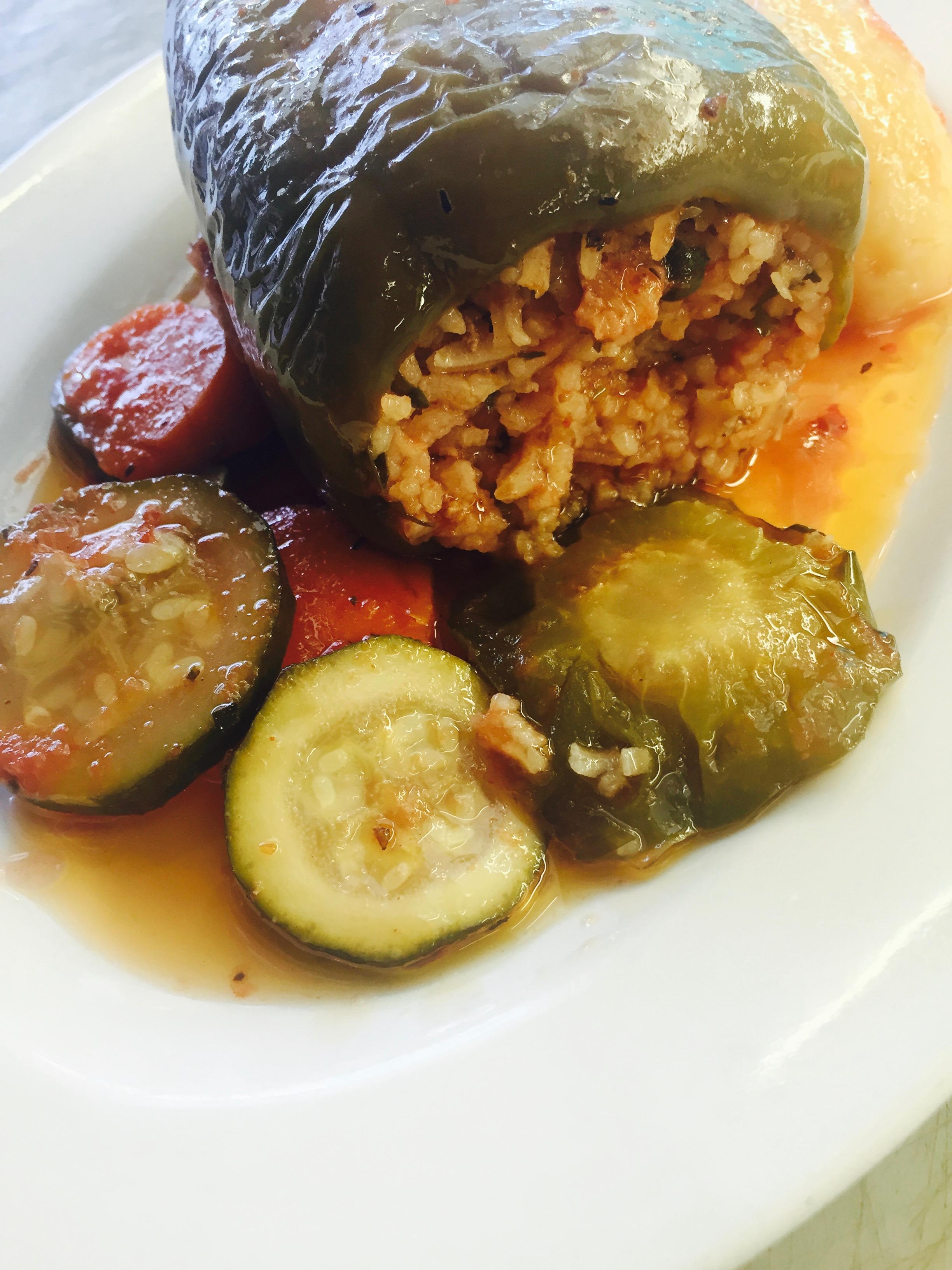 Gemista (stuffed capsicum)