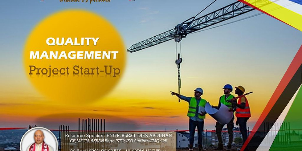 Quality Management, Project Start-Up