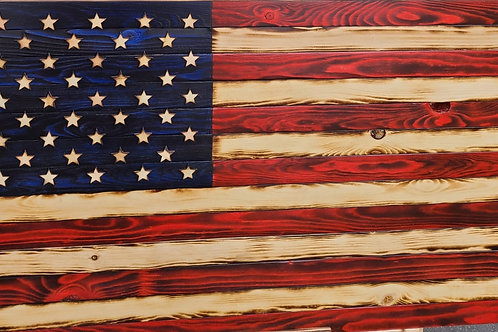 3ft Rustic Red, White, Blue flags