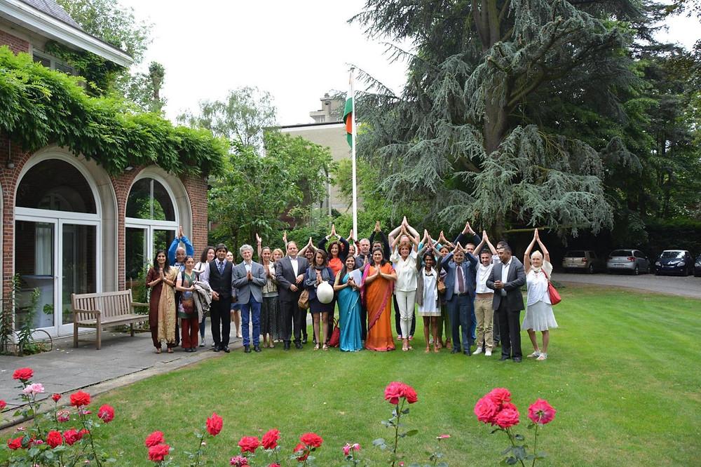 Yoga Day Bruxelles, Sébastien Ganesha, Ambassade de l'Inde