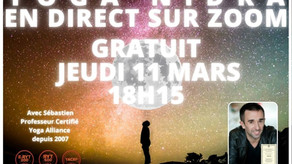 INVITATION : RELAXATION PROFONDE - YOGA NIDRA en direct sur ZOOM [GRATUIT]