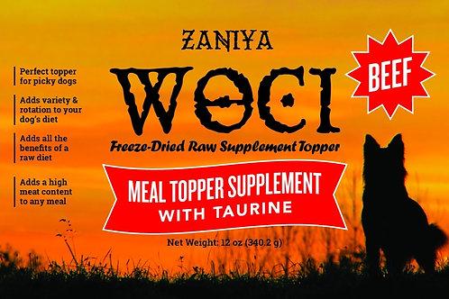 Zaniya Woci Beef Topper w/Taurine 12oz Jar