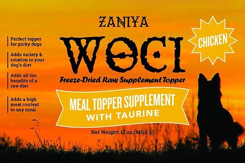 Zaniya Woci Chicken Topper w/Taurine 12oz Jar