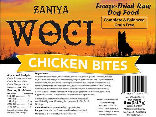 Zaniya Woci Chicken Bites 5oz Stand Up Pouch
