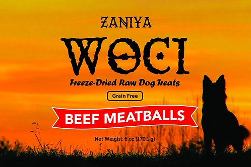 Zaniya Woci Beef Meatball Treat 6oz Jar