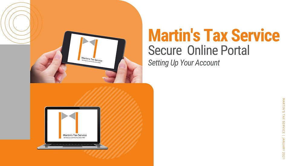This guided tutorial will walk clients through the process of setting up an account with our secure portal system.