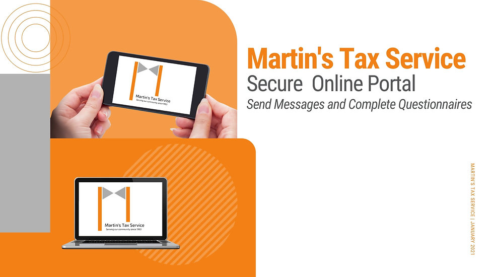 This guided tutorial will walk clients through the process of sending messages to Martin's Tax Service and completing questionnaires within the system.