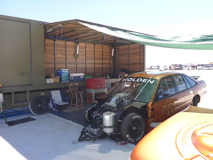Bronze Aussie In the Pits at Speedweek 2014