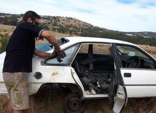 VR Commodore – Bronze Aussie World fastest 4 door car rebuild starts to take shape.