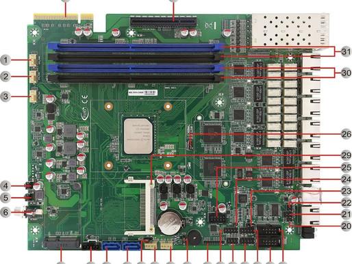 JSV-C3000   (Intel® Atom™ C3000 CPU 12 ~16 Cores)