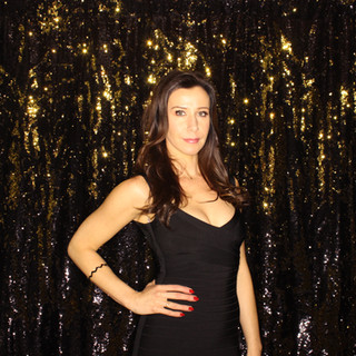Gold and Black Mermaid Sequin