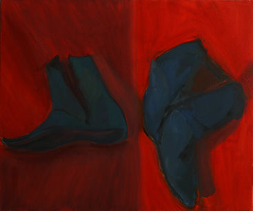 """Extremities 1, 16"""" x 20"""", oil on canvas"""