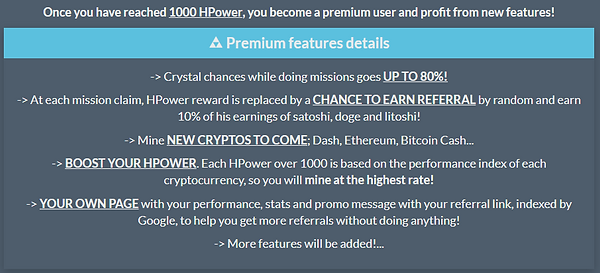 Crypto Mining Game Premium Features