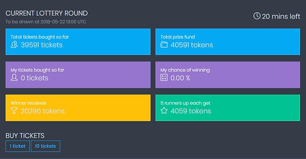 CoinPot Lottery Round 2018-05-22 13:00 UTC