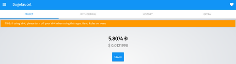Screenshot of DogeFaucet: Free Dogecoin Andoid Mobile App