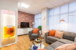 Home lift in modern living room