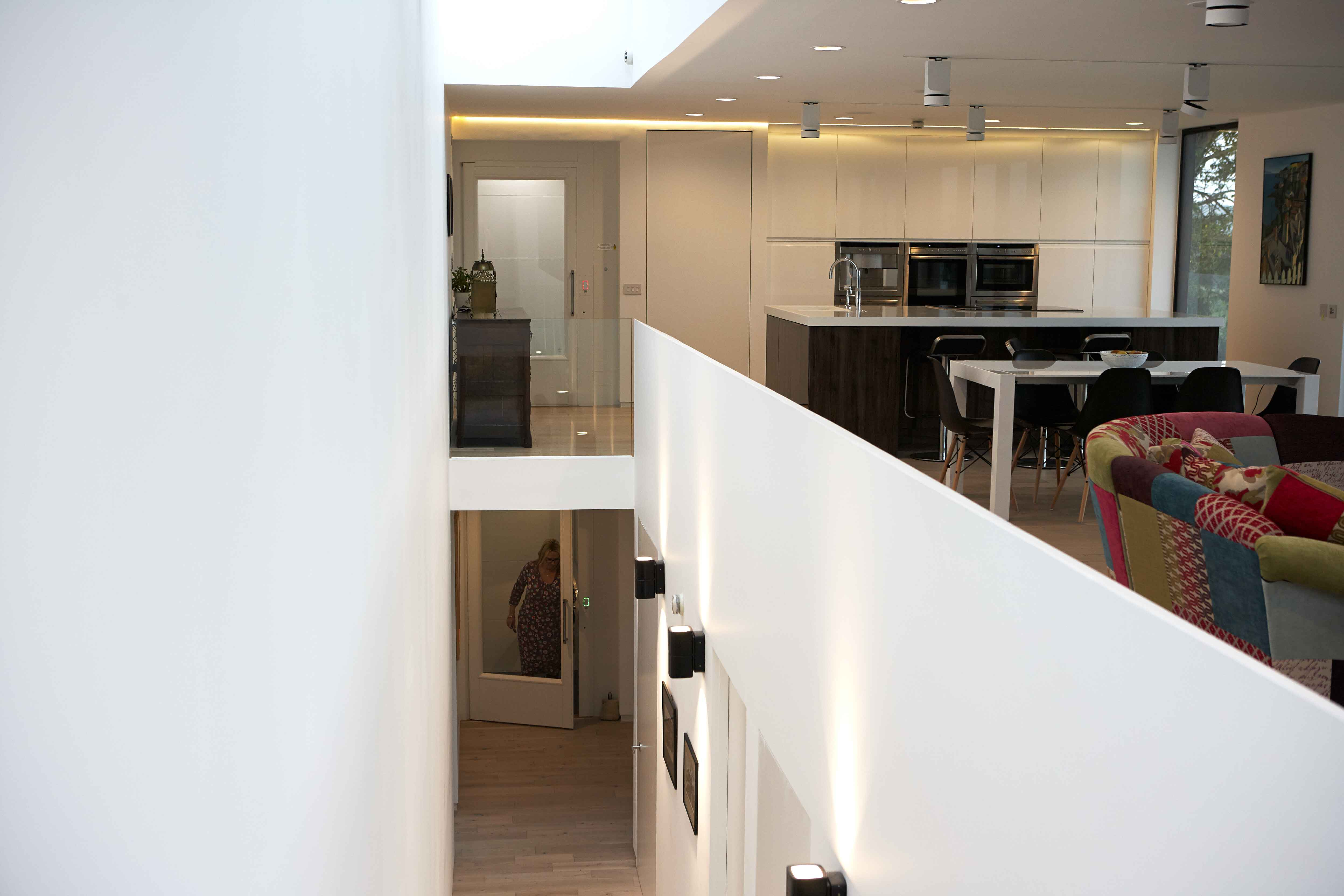 Home lift in kitchen