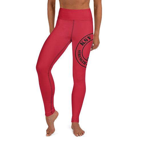 KSV Leggings KSV Red & Black