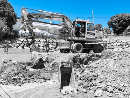 Suivi de chantier, terrassement, Noumea