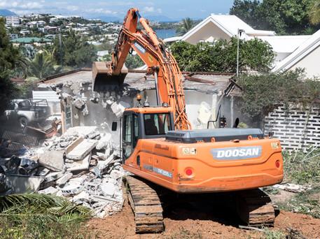 Suivi de chantier, démolition, Noumea