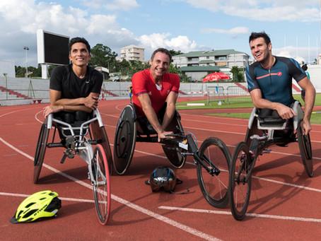 Gian Tronquet, Pierre Fairbank et Nicolas Brignone au Stade Numa Daly
