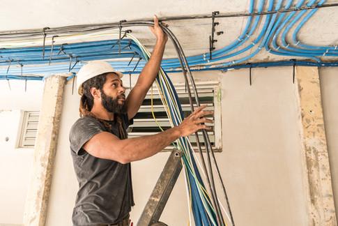 Suivi de chantier, construction, rénovation, électricité, residence de Tindu A, Noumea