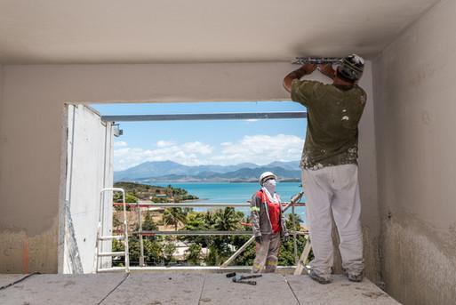 Suivi de chantier, construction, rénovation, residence de Tindu A, Noumea